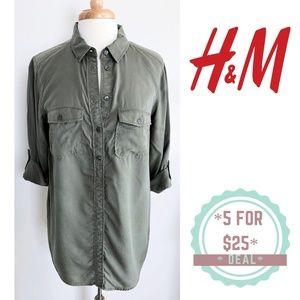 * H&M MAMA maternity olive green tunic shirt M